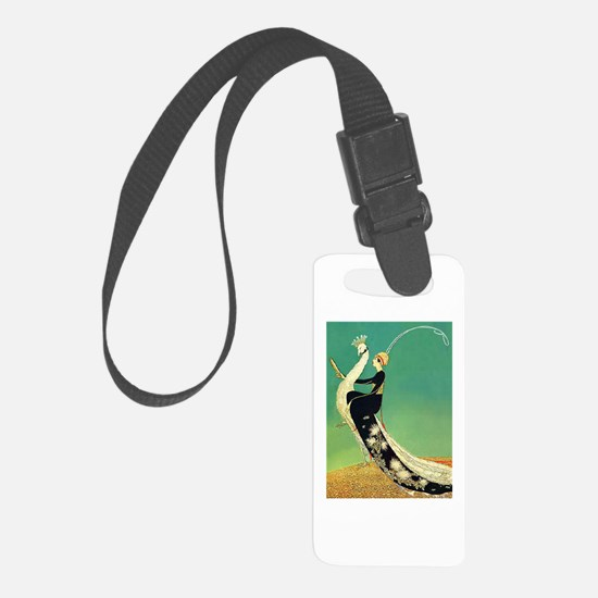 VOGUE - Riding a Peacock Luggage Tag