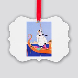 VOGUE - In a Gondola on the Canal Picture Ornament