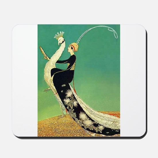 VOGUE - Riding a Peacock Mousepad