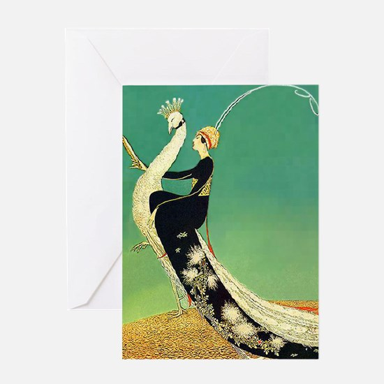 VOGUE - Riding a Peacock Greeting Card