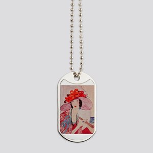 vogue - chic lady in a stylish Dog Tags