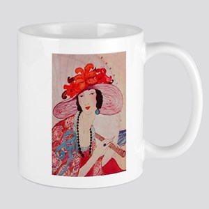 vogue - chic lady in a stylish Mug