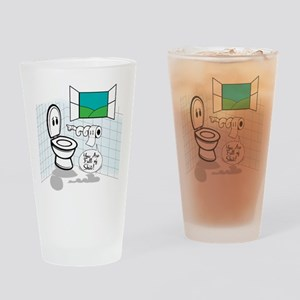 Your full of shit Drinking Glass