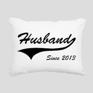 Husband Since 2013 Rectangular Canvas Pillow