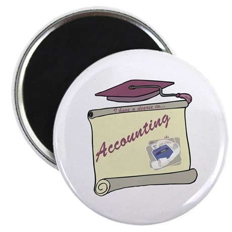 """Accounting Degree 2.25"""" Magnet (100 pack)"""