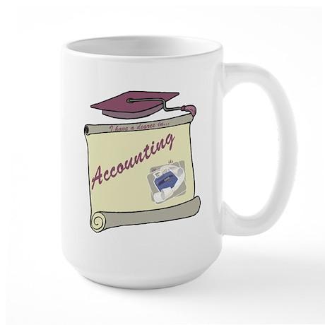 Accounting Degree Large Mug