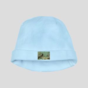 Vintage Marine Life, Shrimp baby hat
