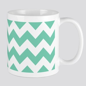 Lucite Green Chevron Mugs