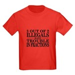 3 Out of 2 Illegals Kids Dark T-Shirt