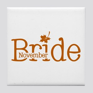 November Bride Tile Coaster