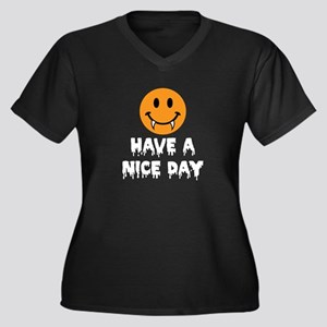 Have a Nice Day Halloween-white-01 Plus Size T-Shi