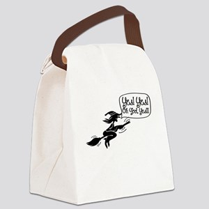 Funny Halloween Witch-01 Canvas Lunch Bag