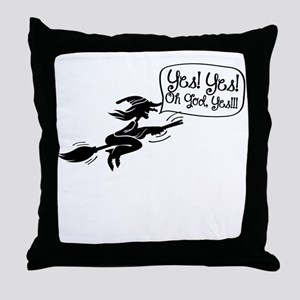 Funny Halloween Witch-01 Throw Pillow