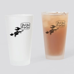 Funny Halloween Witch-01 Drinking Glass