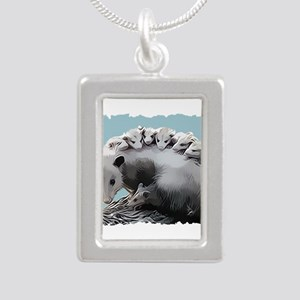 Possum Family on a Log Necklaces