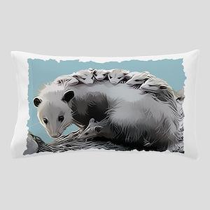 Possum Family on a Log Pillow Case
