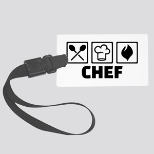 Chef cook equipment Large Luggage Tag