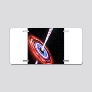 Black Hole Aluminum License Plate