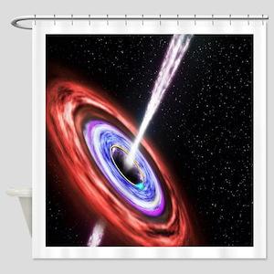 Black Hole Shower Curtain