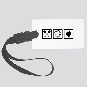 Chef cook kitchen Large Luggage Tag