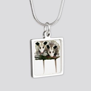 Baby Possums on a Branch Necklaces