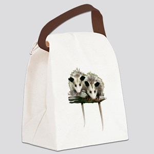 Baby Possums on a Branch Canvas Lunch Bag