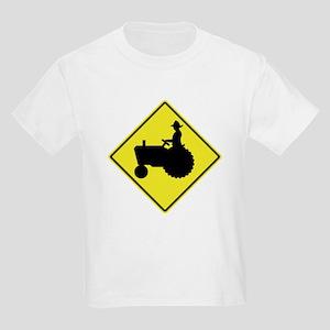 Tractor Crossing 2 Kids Light T-Shirt