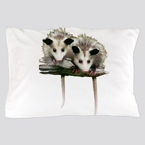 Baby Possums on a Branch Pillow Case
