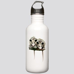 Baby Possums on a Bran Stainless Water Bottle 1.0L