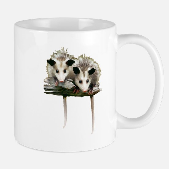 Baby Possums on a Branch Mugs