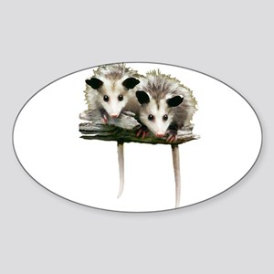 Baby Possums on a Branch Sticker