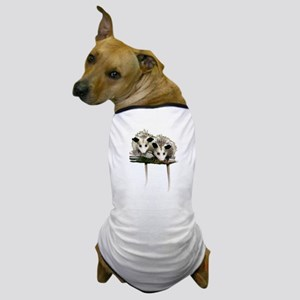 Baby Possums on a Branch Dog T-Shirt