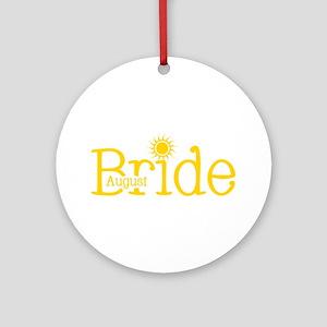 August Bride Ornament (Round)