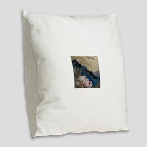 Great Wall Burlap Throw Pillow