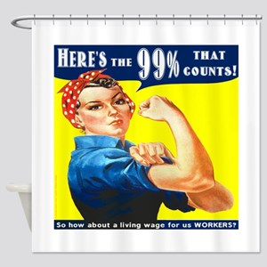 Heres the 99 Percent That Counts Shower Curtain