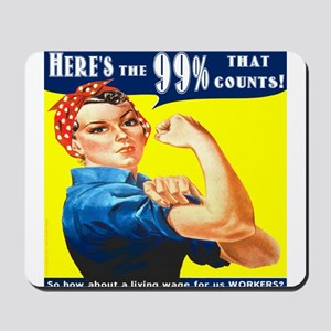 Heres the 99 Percent That Counts Mousepad