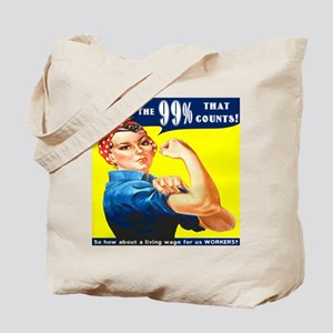 Heres the 99 Percent That Counts Tote Bag
