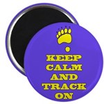 Keep Calm & Track On Magnets