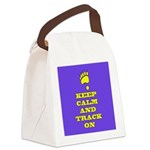 Keep Calm & Track On Canvas Lunch Bag