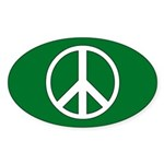 PEACE Oval Sticker