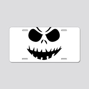 Halloween Pumpkin Aluminum License Plate