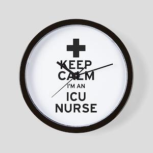 Keep Calm ICU Nurse Wall Clock