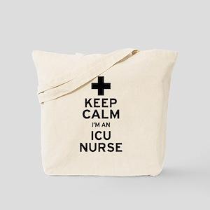 Keep Calm ICU Nurse Tote Bag