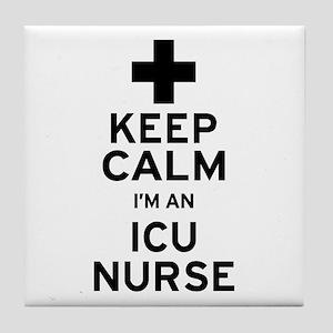 Keep Calm ICU Nurse Tile Coaster