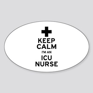 Keep Calm ICU Nurse Sticker