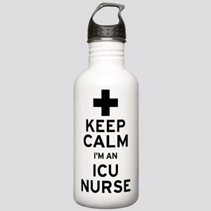 Keep Calm ICU Nurse Stainless Water Bottle 1.0L