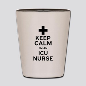 Keep Calm ICU Nurse Shot Glass