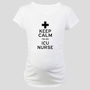 Keep Calm ICU Nurse Maternity T-Shirt