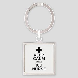 Keep Calm ICU Nurse Keychains