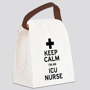 Keep Calm ICU Nurse Canvas Lunch Bag